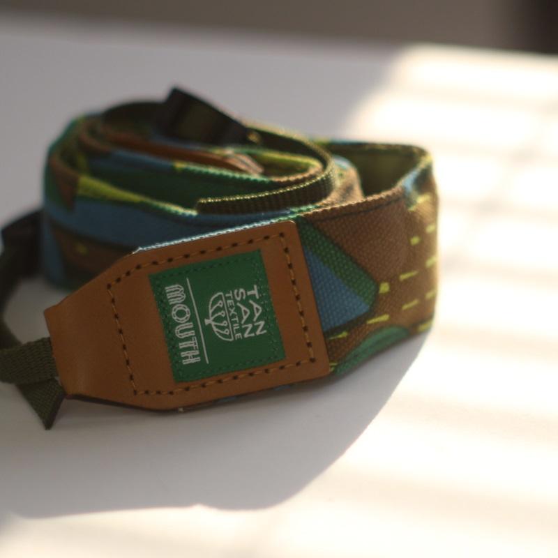 TANSAN TEXTILE 40mm Delicious Camera Strap  (GREEN)