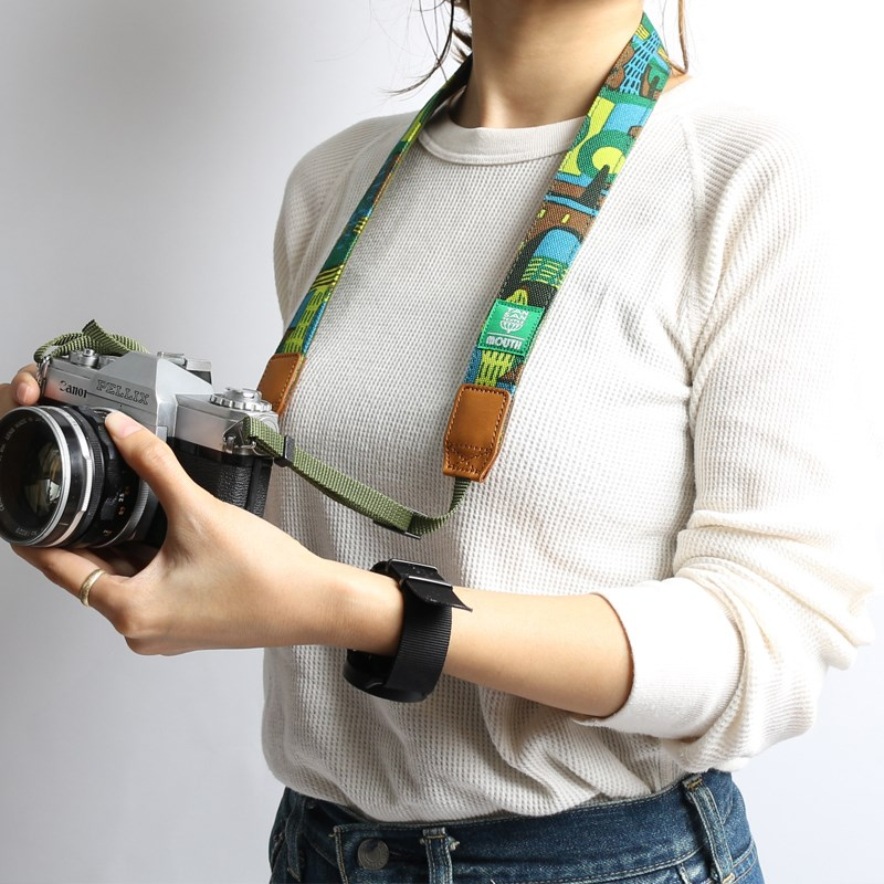 【予約 9月27日発売】TANSAN TEXTILE 30mm Delicious Camera Strap  (GREEN)