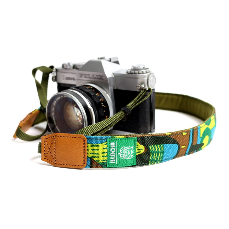 TANSAN TEXTILE 30mm Delicious Camera Strap  (GREEN)