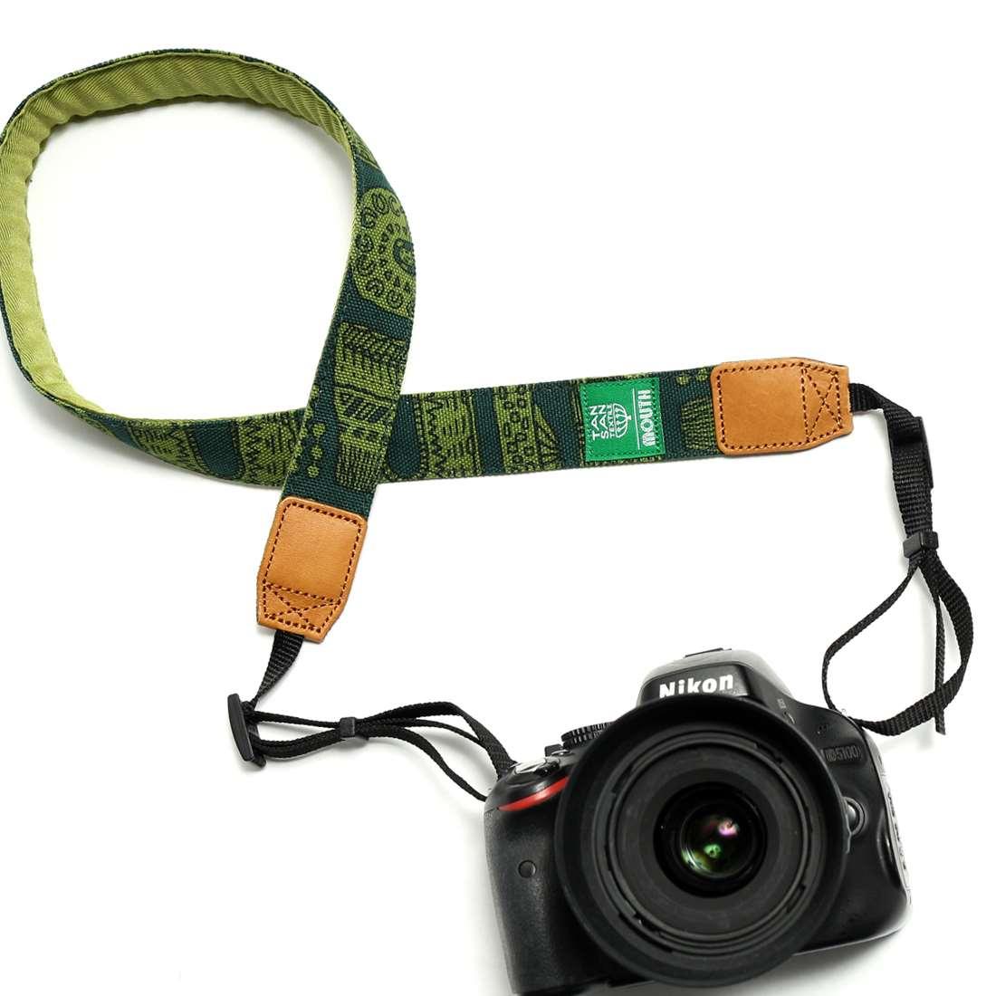 TANSAN TEXTILE 30mm Delicious Camera Strap  (GREEN)