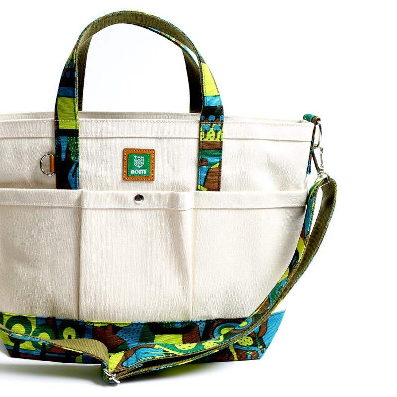 TANSAN TEXTILE Delicious 106 TOTE Mサイズ  (NATURAL/GREEN)