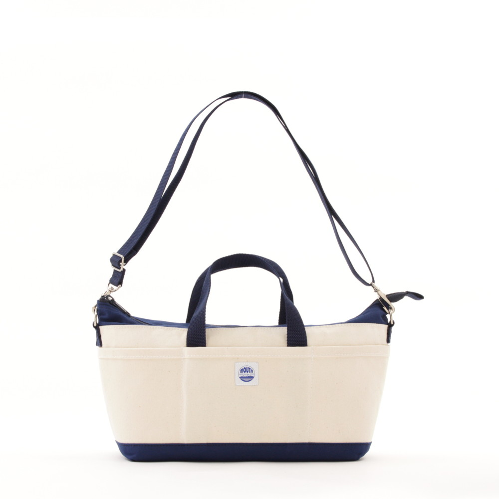 Delicious Tote Case + (NATURAL/NAVY)